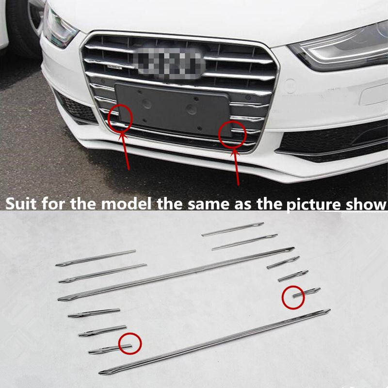 Stainless Steel Car Front Grill Grille Decorative Cover Trim Strips
