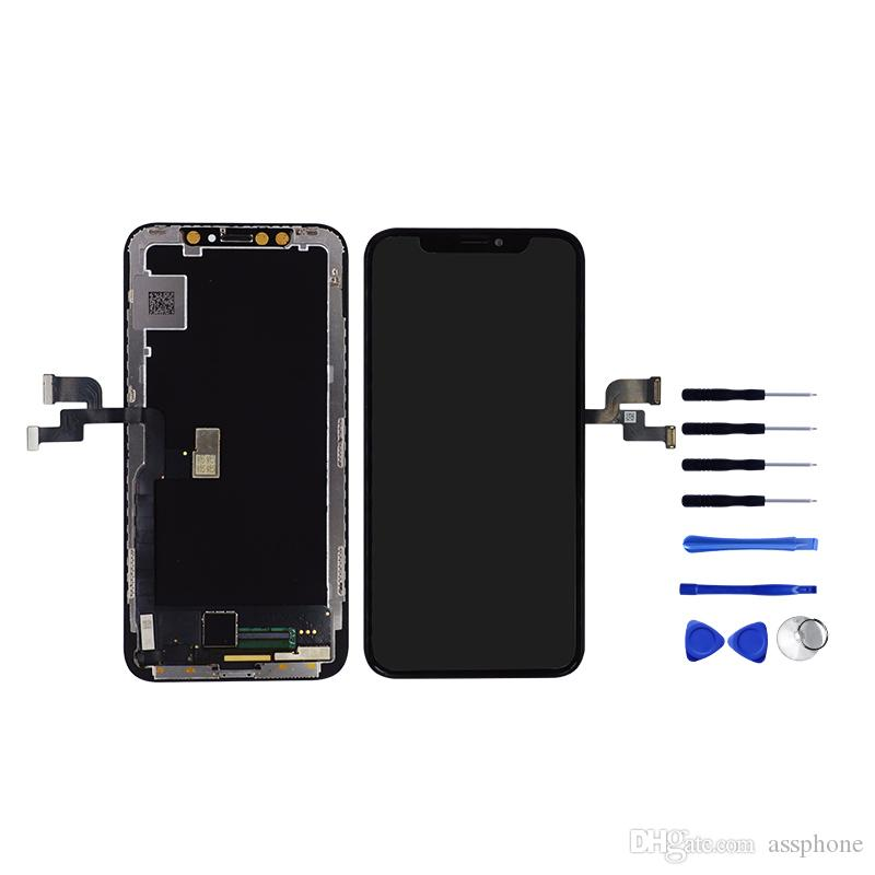 buy online 36a77 baf62 New Arrival Perfect Color OEM OLED LCD For iPhone x No Dead Pixel Display  For iPhone X lcd replacement With Free Shipping