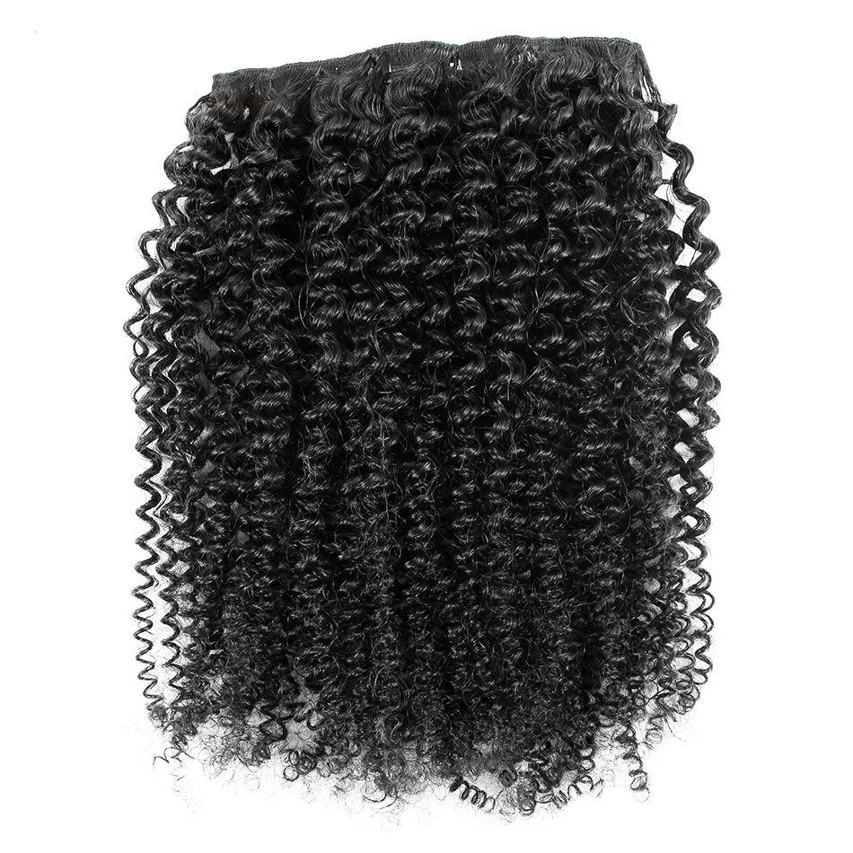몽골 킨키 곱슬 머리 클립 / 인간의 머리카락에서 세트 클립 자연 머리 클립 INS 4B 4C