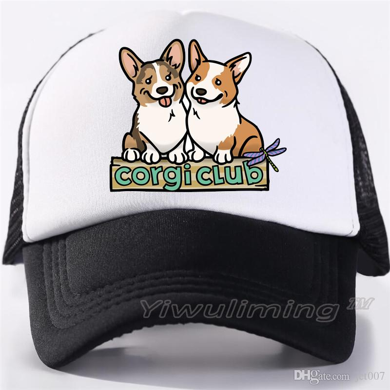 Men Women New Summer Trucker Caps Corgi Cool Summer Black Adult Cool  Baseball Mesh Net Trucker Caps Hat For Men Adultbeyonce Mesh Hats Superman  Cap From ... 516a686fdcf