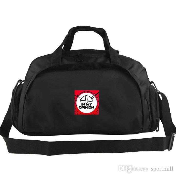 7de874404dab 2019 In My Opinion Duffel Bag Red Logo Tote Top Records Music Luggage  Durable Nylon Duffle Handle Backpack Sport Sling Handbag From Sportmill
