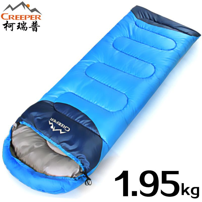 the latest dd4f0 bd83f Creeper Single envelope thickened adult sleeping bag Outdoor ultra light  cotton stitching winter travel sleeping bagDropshipping