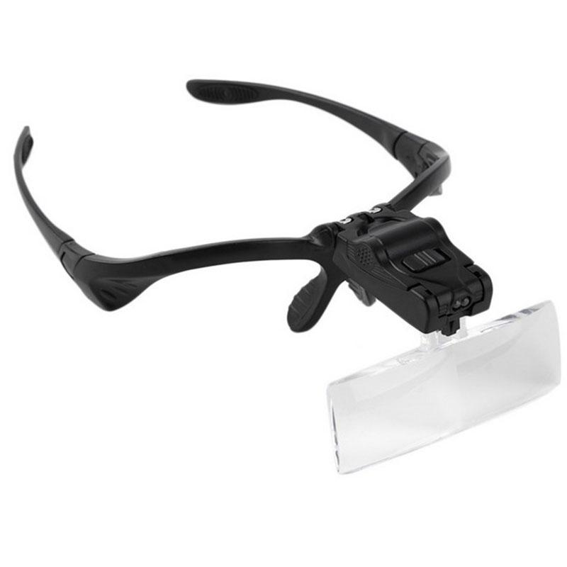 ccc595079653 Hands Free Magnifier Optical Lens Headband Loupes Repair Reading ...