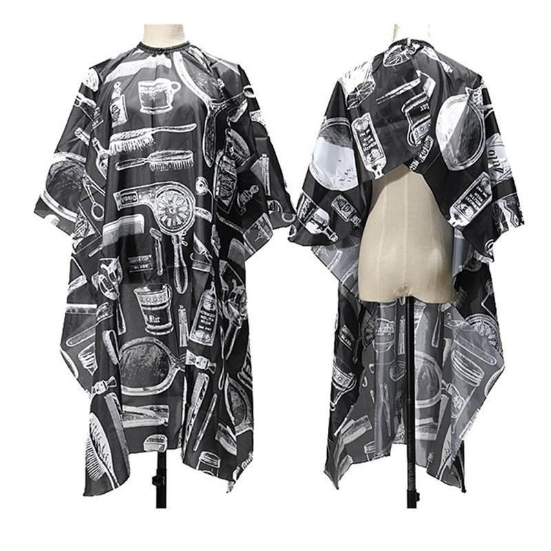 Adult Salon Hair Cut Hairdressing Barbers Hairdresser Cape Gown Cloth Waterproof ZWI