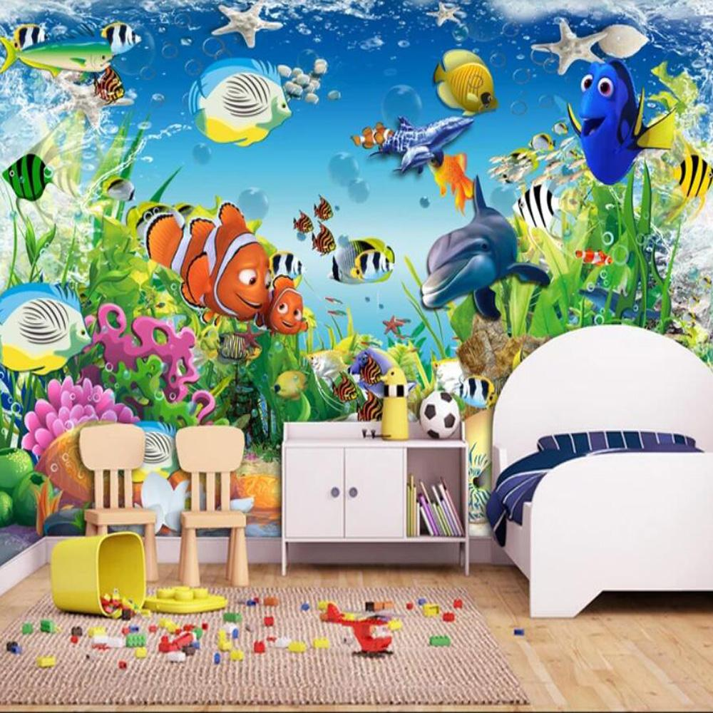 Sea World Kids Bedroom Wallpaper Mural Children Room Mural Paper Rolls  Contact Paper Roll 3d Wall Murals Carton Wall 3d Hd Wallpapers 4 Free Hd  Wallpapers A ...