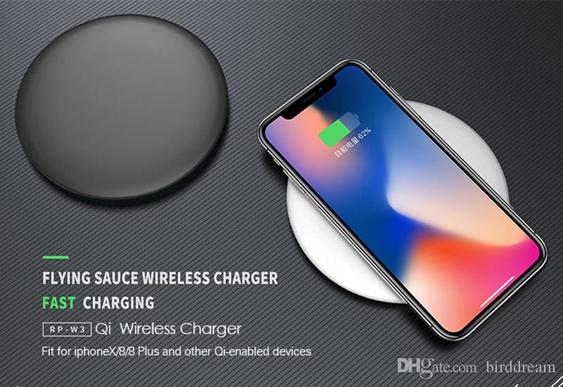 REMAX QI Wireless Charger for iPhone X/8 for Samsung S8/S7 Fast charging with Micro Usb Cable