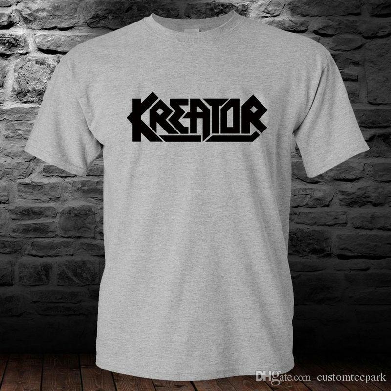 e15397ebd29a5 Compre Kreator Thrash Banda De Metal Camiseta Gris Camiseta Para Hombre S A  3Xl Camiseta Para Hombre Camiseta De Manga Corta Personalizada De Algodón  3XL ...