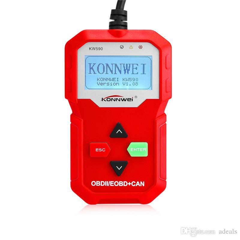 Konnwei OBD 2 OBD2 Autoscanner KW590 Soutien Multi-langues Complet ODB2 Fonction Auto Diagnostic Scanner ODB 2 Diagnostic