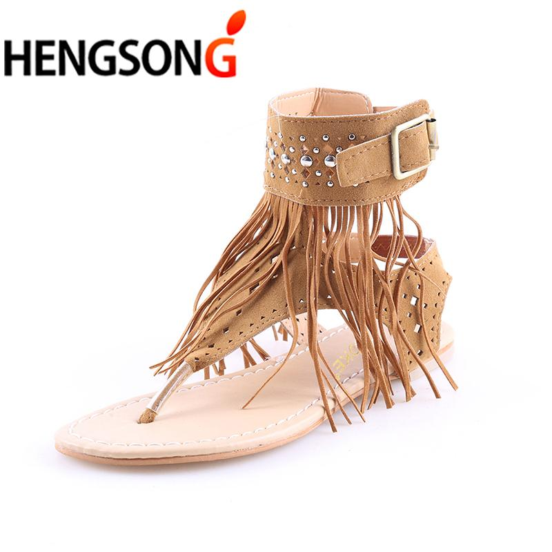 Arrive Flat Tassels 2017 Bohemian Sandals Women Casual New 08nNOvmw