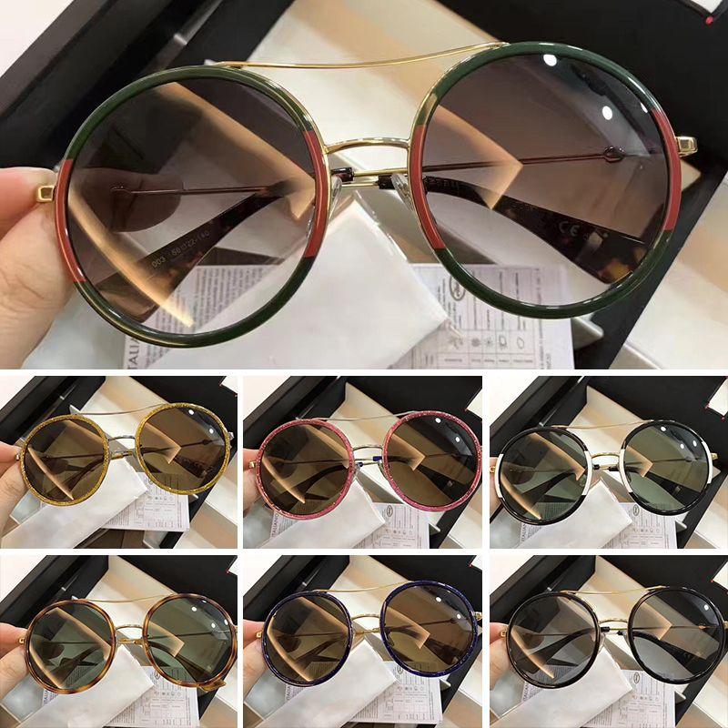 Großhandel Luxus Runde Sonnenbrille Für Frauen Marken Sonnenbrille ...