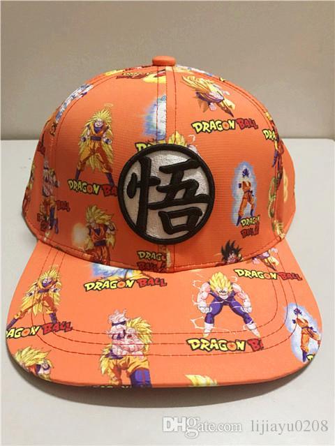5f95ddc9c36 2019 Dragon Ball Z Fashion Baseball Caps 2017 New Super Saiyan Son Goku  Vegeta Print Mens Snapback Cap Casual Sun Hat From Lijiayu0208