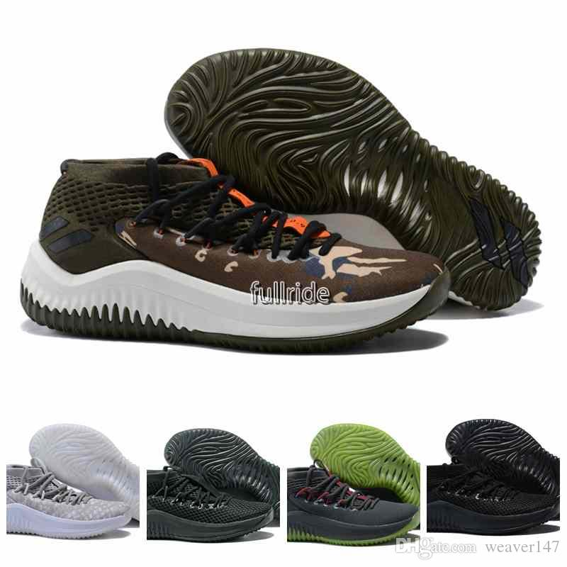 9cfe9a7e69b 2018 Hot Sale Damian Lillard 4 Men S Basketball Shoes For Dame 4s Black  White Army Green Red Casual Sports Sneakers US 7 12 Basketball Shoes For  Kids ...