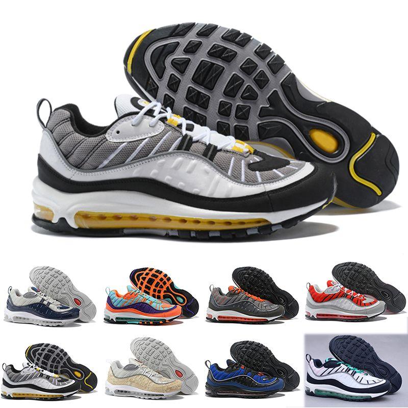 huge selection of 90379 184dd Großhandel Nike Air Max 98 2018 Neue 98 Qs Og Cone Gundam Laufschuhe Herren  Kegel Tour Gelb Hyper Grape 98s Laufschuhe Miami Orange Trainer Sport  Sneakers ...