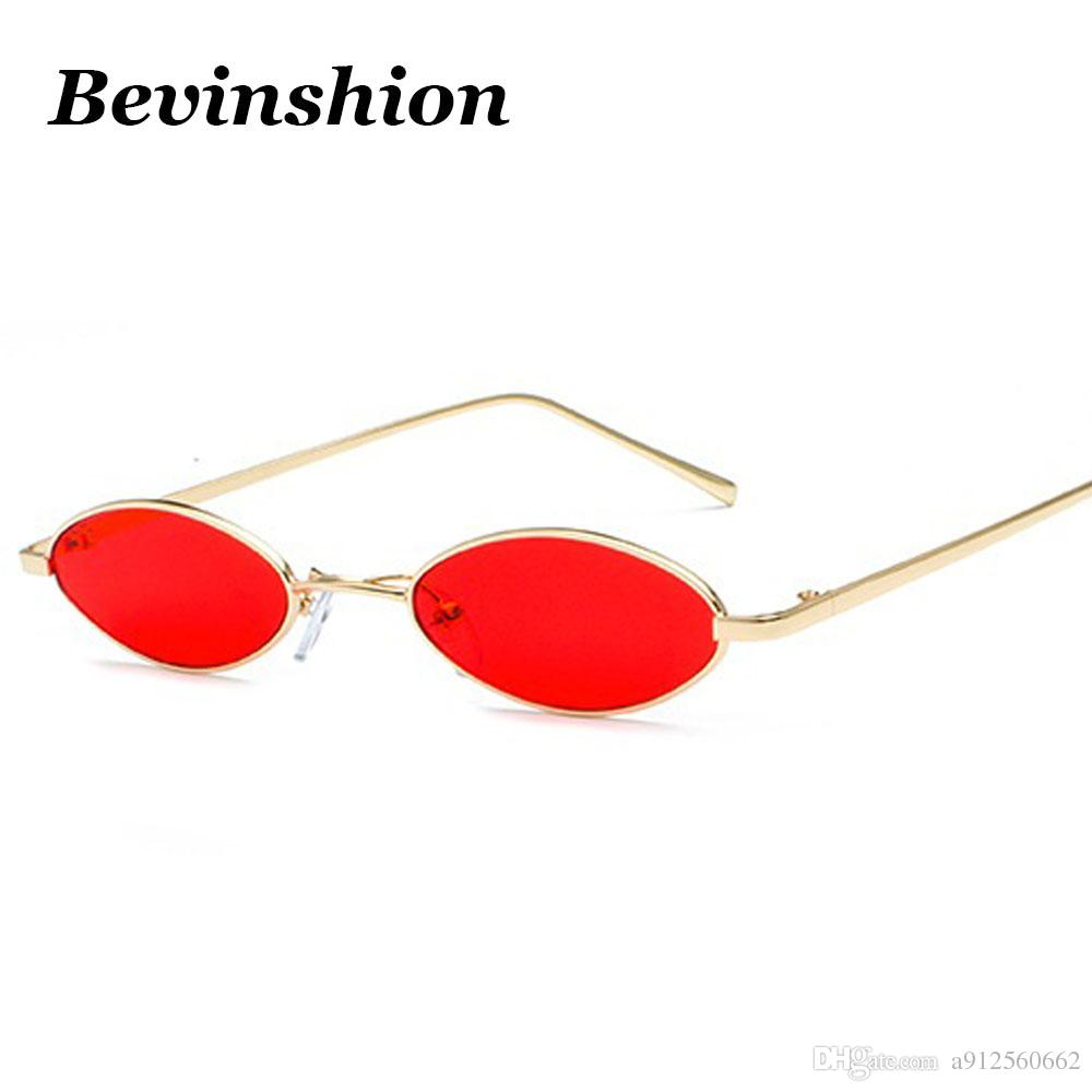 new year 2018 mini small fine metal frame water drops oval sunglasses women vintage men sun glasses clear ocean lens color party sunglasses at night lyrics