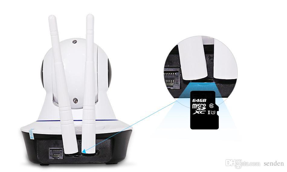 HD 720P con cable Inalámbrico Wifi Pan / Tilt Visión nocturna Audio bidireccional Casa inteligente Seguridad Cámara IP Monitor de bebé Onvif
