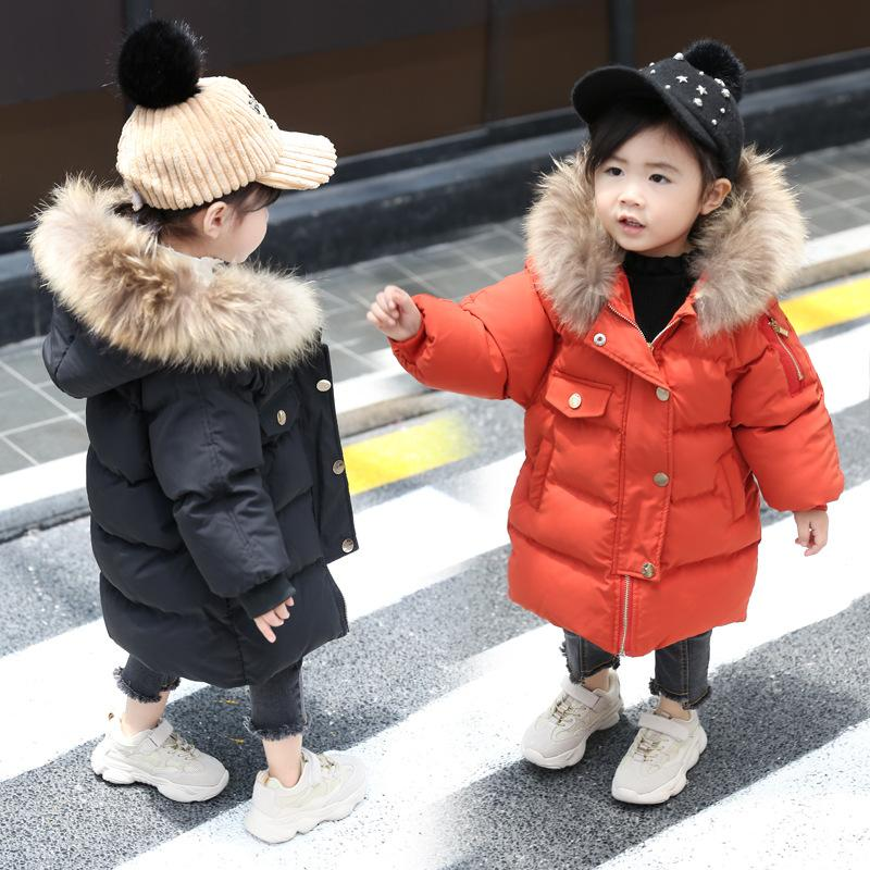 bd439c0de823 2018 Winter New Baby Girl Boy 1 3 Years Old Down Cotton Padded Jacket Coat  Winter Real Fur Collar Warm Overcoat Boys Down Coat Toddler Down Jacket  From ...