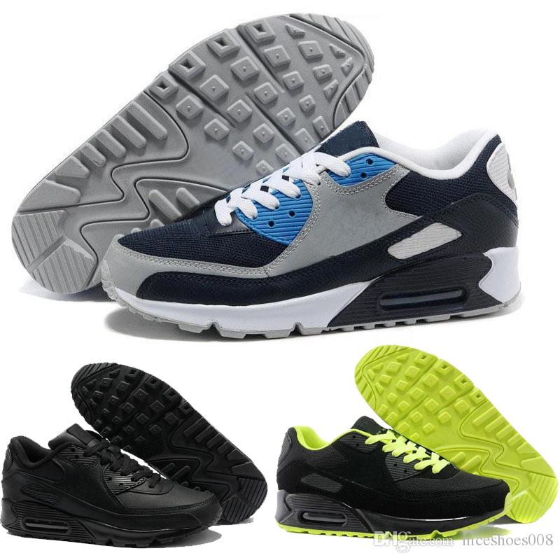 0b7557b11ae2 2019 Wholesale 2018 Hot Sale Cushion 90 Run RunningShoes Men 90 High  Quality Cheap Maxes Sports Trainers Shoes Size Eur 36 45 From Niceshoes008