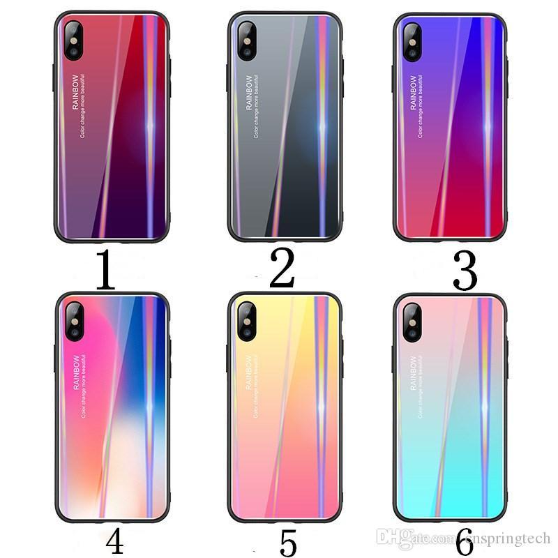 5742ce6bc0b Accesorios Telefonia Movil Aplicable Láser Aurora Gradiente Caja De Cristal  TPU Caja Del Teléfono Resistente Al Rayado Para IPhone Xs Max X 8 7 Envío  Gratis ...