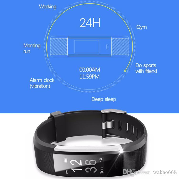 ID115 HR Plus Smart Wristband Fitness APP GPS Activity Tracker Smart Bracelet HR Sleep Monitor Smart Band for Xiaomi iPhone Android phones