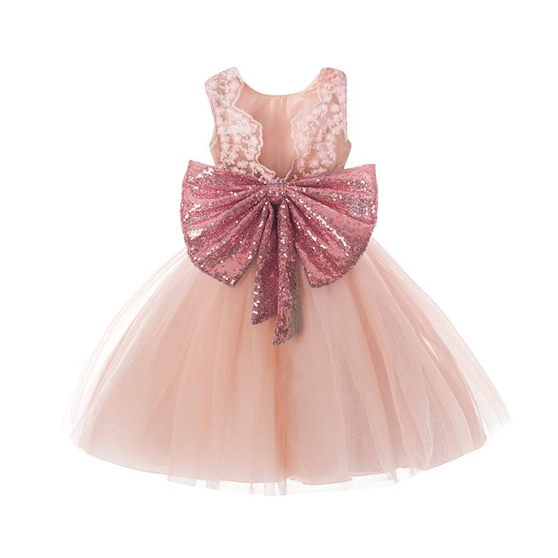 Girls Sundress 2018 New Summer Princess Girl Clothes Sequins Bowknot  Sleeveless Backless Party Dress For Girls Clothes 1 5 Years UK 2019 From  Luckyno 23a6a76b68d0