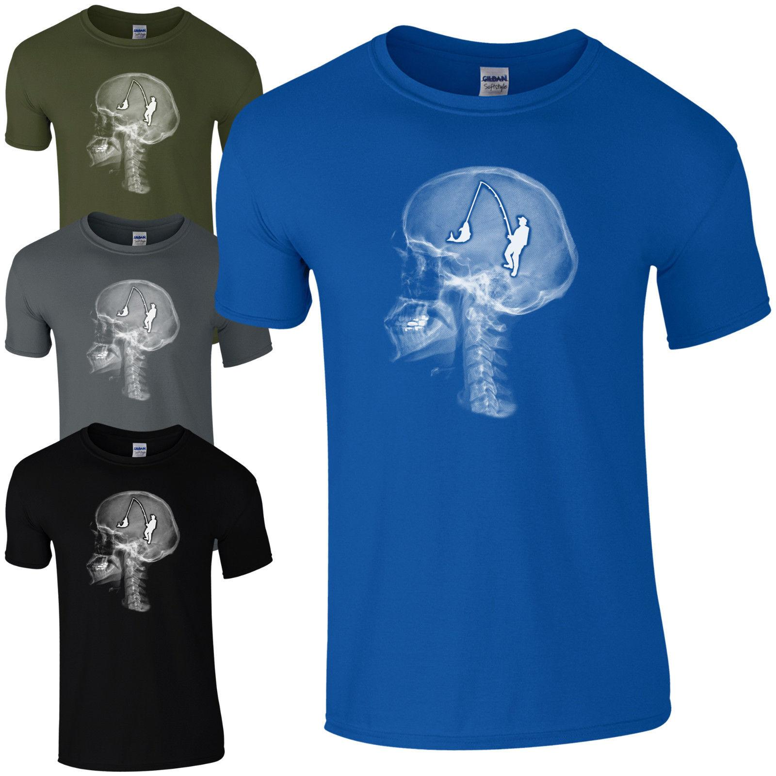 957601e1d3d Fishing On The Brain T Shirt Funny Skull X Ray Fathers Day Dad Gift Mens  Top Cool Casual Pride T Shirt This T Shirt T Shirts Best From Cls6688523