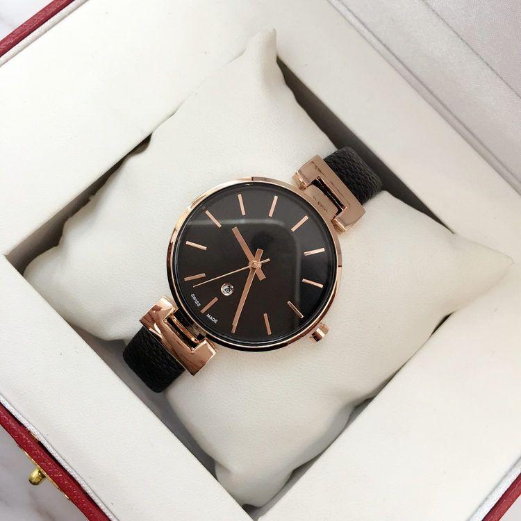 2018 Brand new model Fashion women genuine leather Luxury wristwatch Female clock japan movement quartz watch auto date Best gift for girls