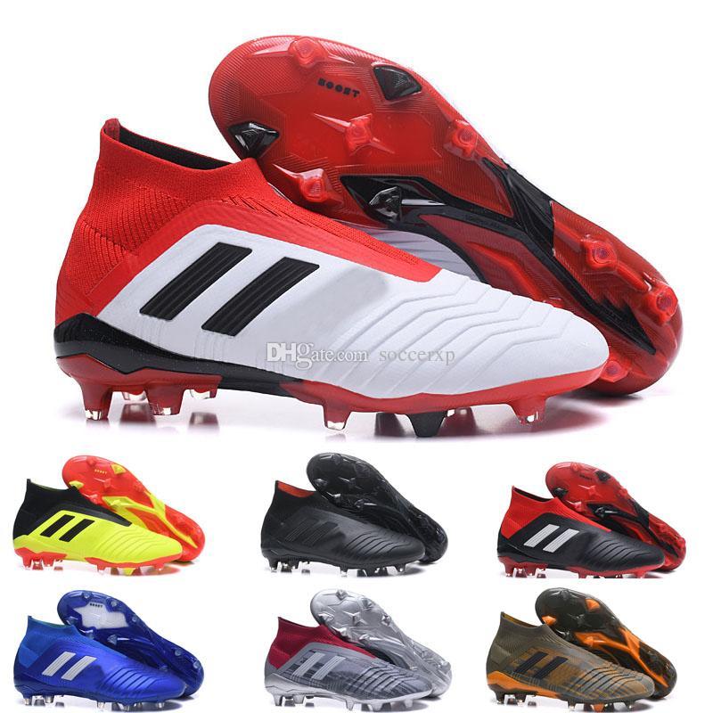 233a311d9 2018 Soccer Shoes New Predator 18+X Pogba 18.1 FG Football Shoes High Top  Soccer Cleats Mens Boy Kids Outdoor Sapatos De Futebol Homens