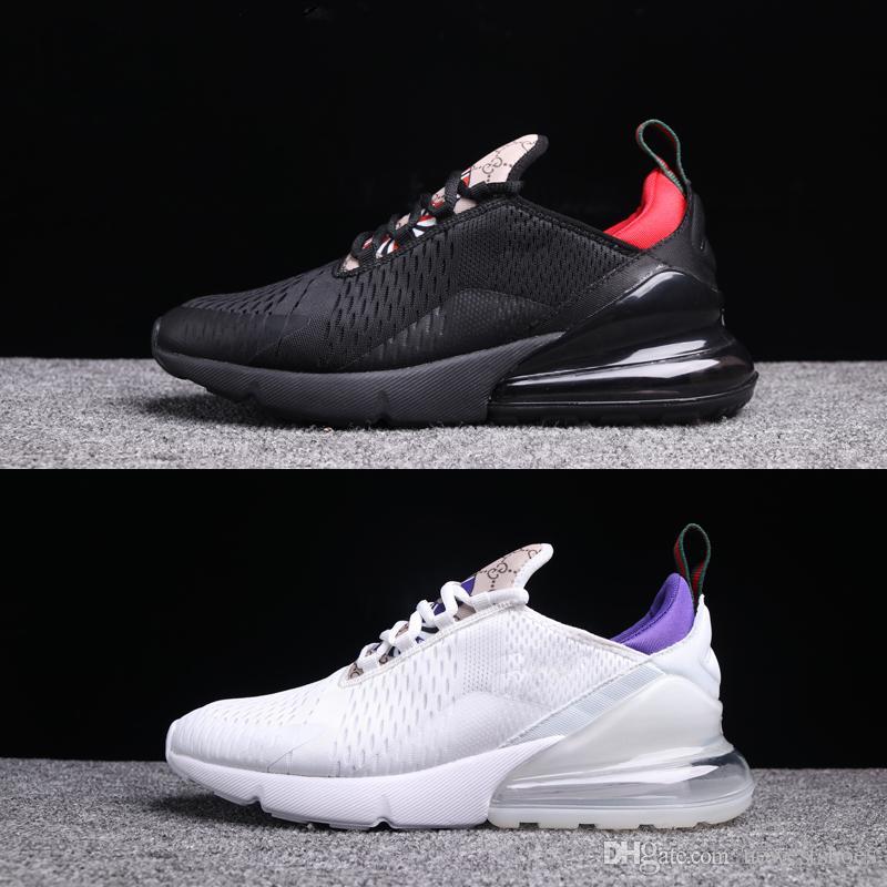 buy popular 971a1 cfcd5 Compre Nuevos 270 Zapatos Snake Negro Rojo Blanco Púrpura Lite Boneo Hot  Punch Blanco Hombres Mujeres Zapatos Para Correr 270s 27c Air Trainer  Sports ...