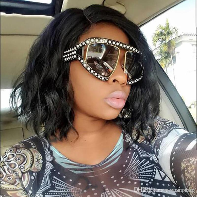 8843cc710f50 ROSANNA Italian Brand Designer Luxury Big Pearl Sunglasses Women Men  Oversized Sun Glasses For Female Male Clear Lens Goggle UV400 Glasses Bolle  Sunglasses ...