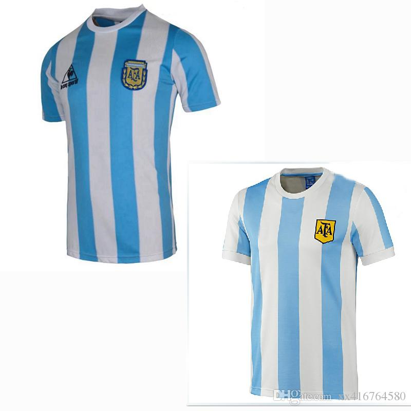 5adfc4a4a41 Top 1978 1986 Retro Argentina Soccer Jersey MARADONA 78 86 Retro Football Shirt  Argentina Jerseys Fabregas Jerseys Bergkamp Jerseys Online with  $19.59/Piece ...