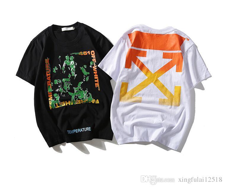 b1b5d365f 2019 2018 Summer Designer T Shirts For Men Tops Gradient Color Print Polo  Shirt Mens Cotton Brand Short Sleeve Tshirt Men Tops Tee Size M XXL From ...