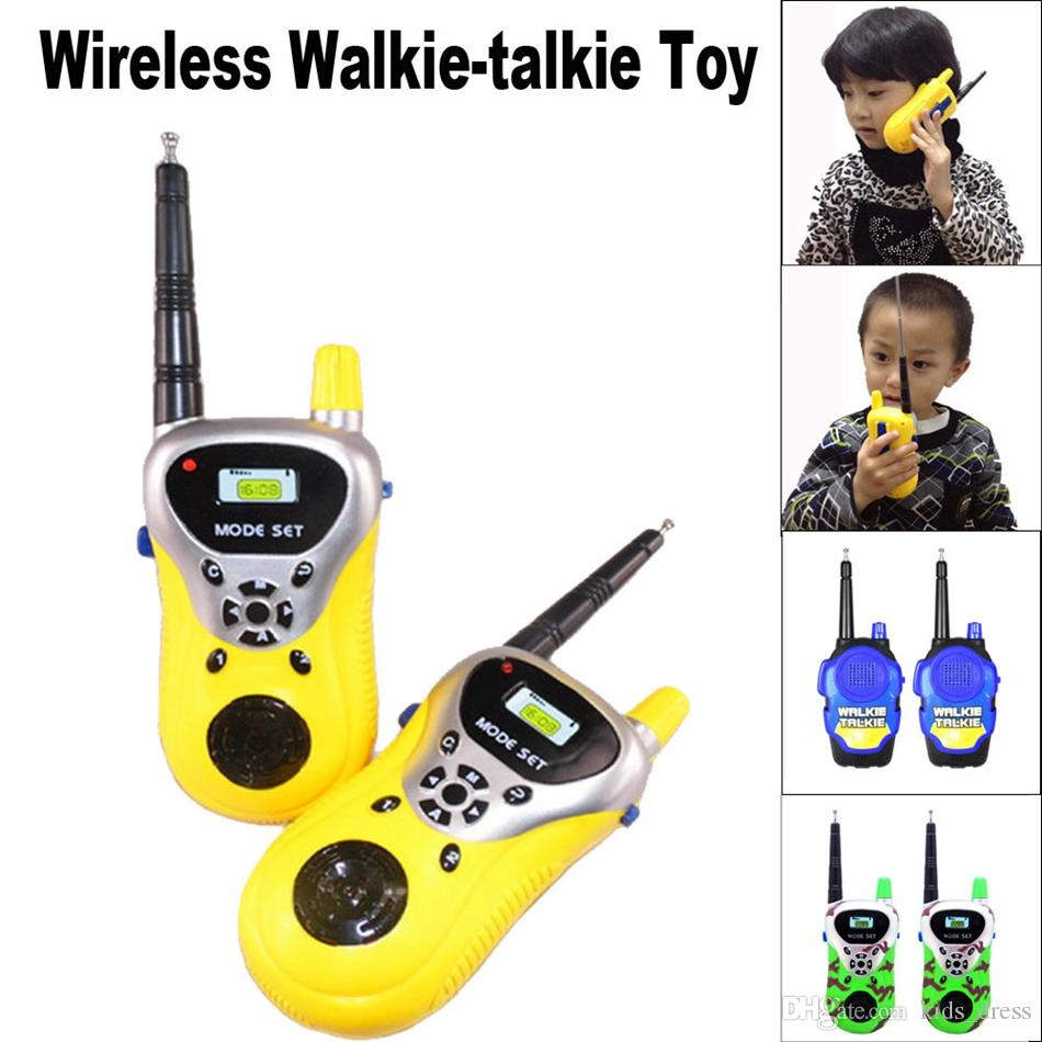 65c3f6ad6c8 Wireless Walkie Talkie Kids Electronic Toys Portable Two-Way Radio Toys  Children s Walkie Talkie 3 Colors OOA4030