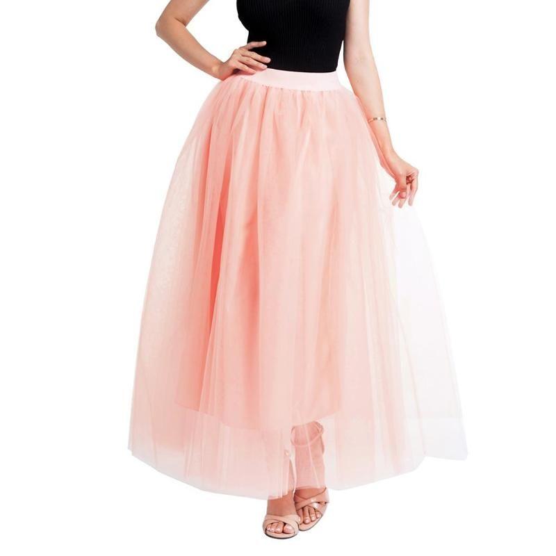 46e3856e27 2019 2018 Maxi Skirts Women Lace Princess Fairy Style Layers Voile Tulle  Skirt High Waist Bouffant Puffy Fashion Long Tutu Skirts From  Eventswedding, ...