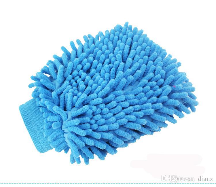 Microfiber Snow Neil fiber car wash mitt car washing gloves towel