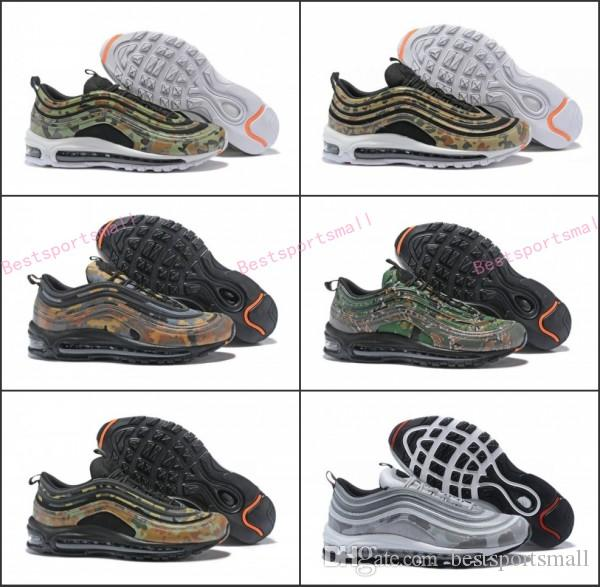 f43fde9809 2018 New 97 Country Camo Japan Italy UK Army Green Running Shoes Men 97s  Camouflage Ultra Bullet 3M Premium Zoom Trainers Sneakers 40 46 Lightweight  Running ...