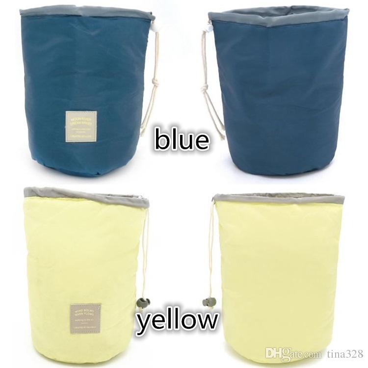 Südkorea Reise zylinder große kapazität wasserdichte schminktasche Tragbare gürtel waschbeutel Kosmetiktasche Aufbewahrungsbeutel T4H0334