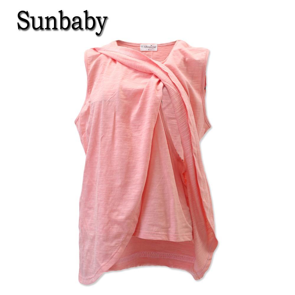 5bd96516c Compre Sunbaby New Candy Color Plus Size Fashion Camiseta De Embarazo  Embarazo Lactancia Top Ropa De Lactancia Para Mujeres Embarazadas T523 A   37.05 Del ...