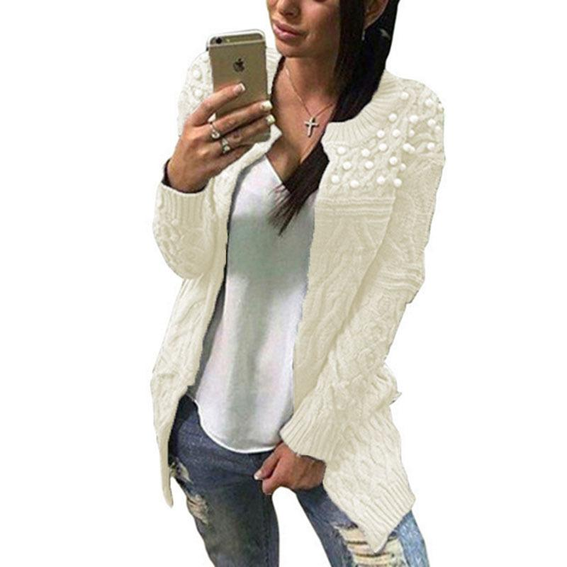 6862997558b 2019 2019 New Women S Explosions Europe And The United States Long Twist  Bead Sweater Cardigan Sweaters Women From Caicaijin07