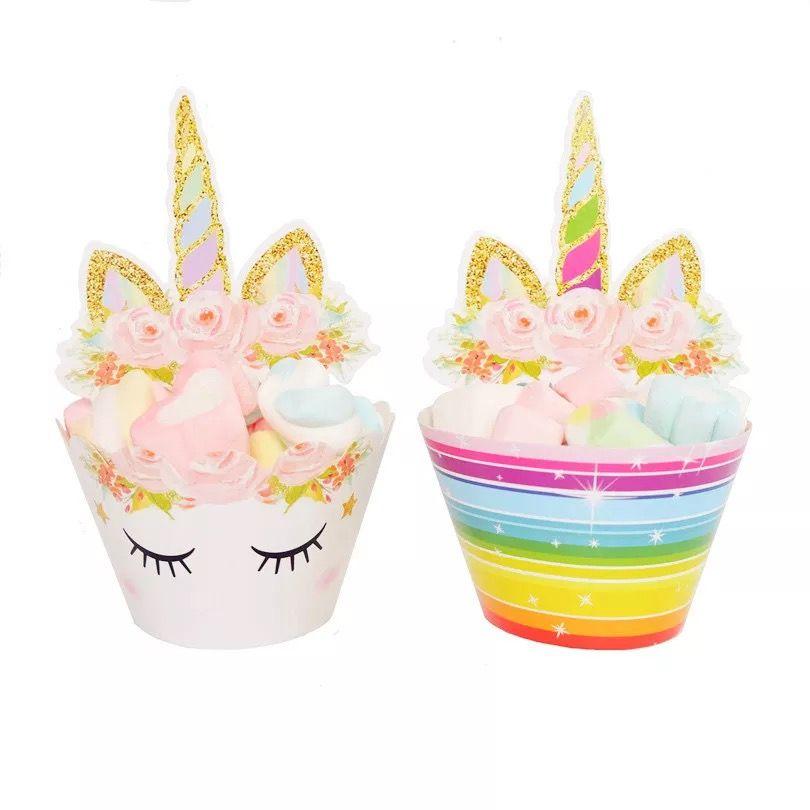 Grosshandel Einhorn Kuchen Dekoration Baby Dusche Dekoration Unicorn