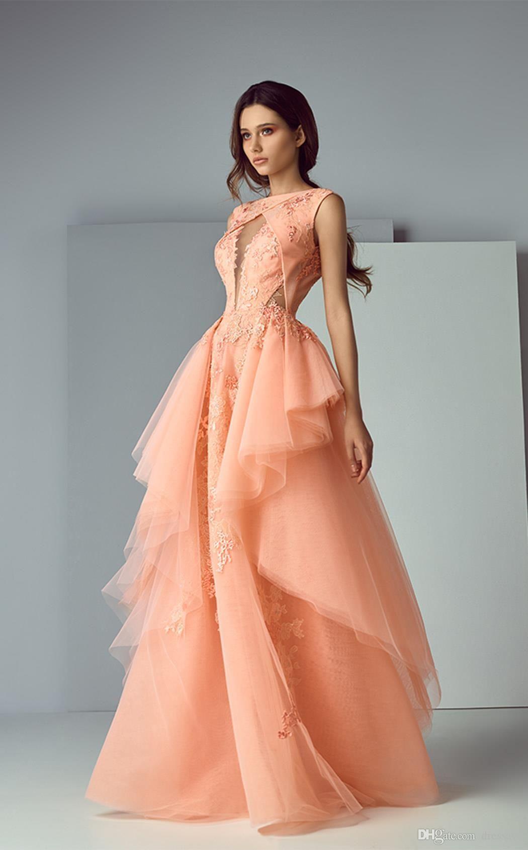 Großhandel 13 Vintage Arabisch Abendkleider Spitze Applique Boot  Ausschnitt Abendkleid Sleeveless Bodenlangen Rüschen Festzug Kleider Von  Dressave,