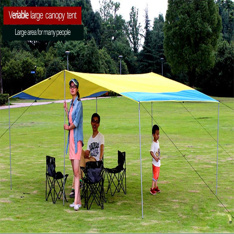 Sun Shelter Tent Waterproof Awning Hiking Portable Canopy Outdoor Gazebo  Camping Tent 3.2*3m Big Size Family Coating Tarp Tent 4 Man Tents Hiking  Tent From ...