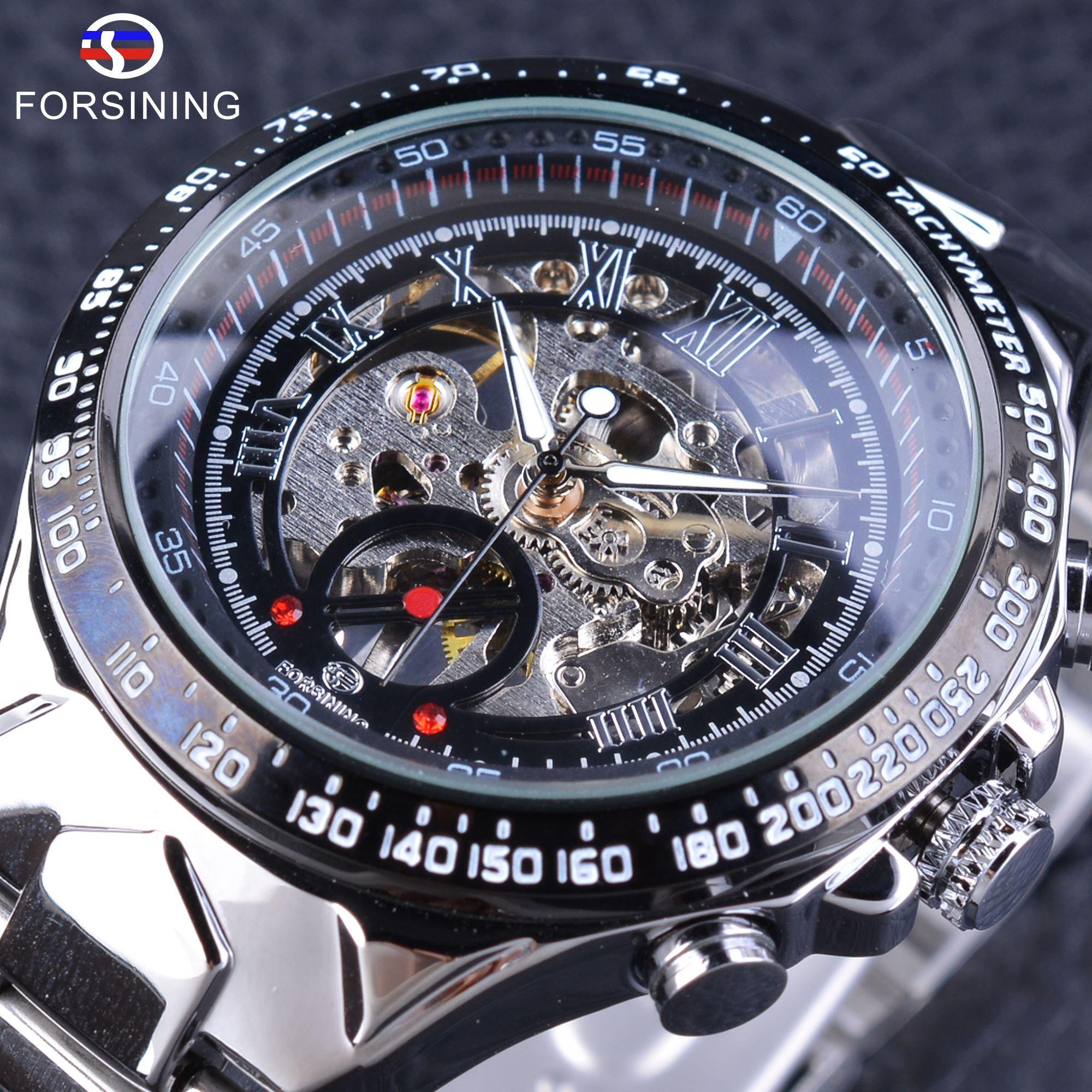c649f607fa5 Compre X Forsining Relógios Masculinos Mão Mecânica Movimento Pelo Vento  Esqueleto À Prova D Água Design Esporte Relógios De Pulso Top Marca De Luxo  Relógio ...