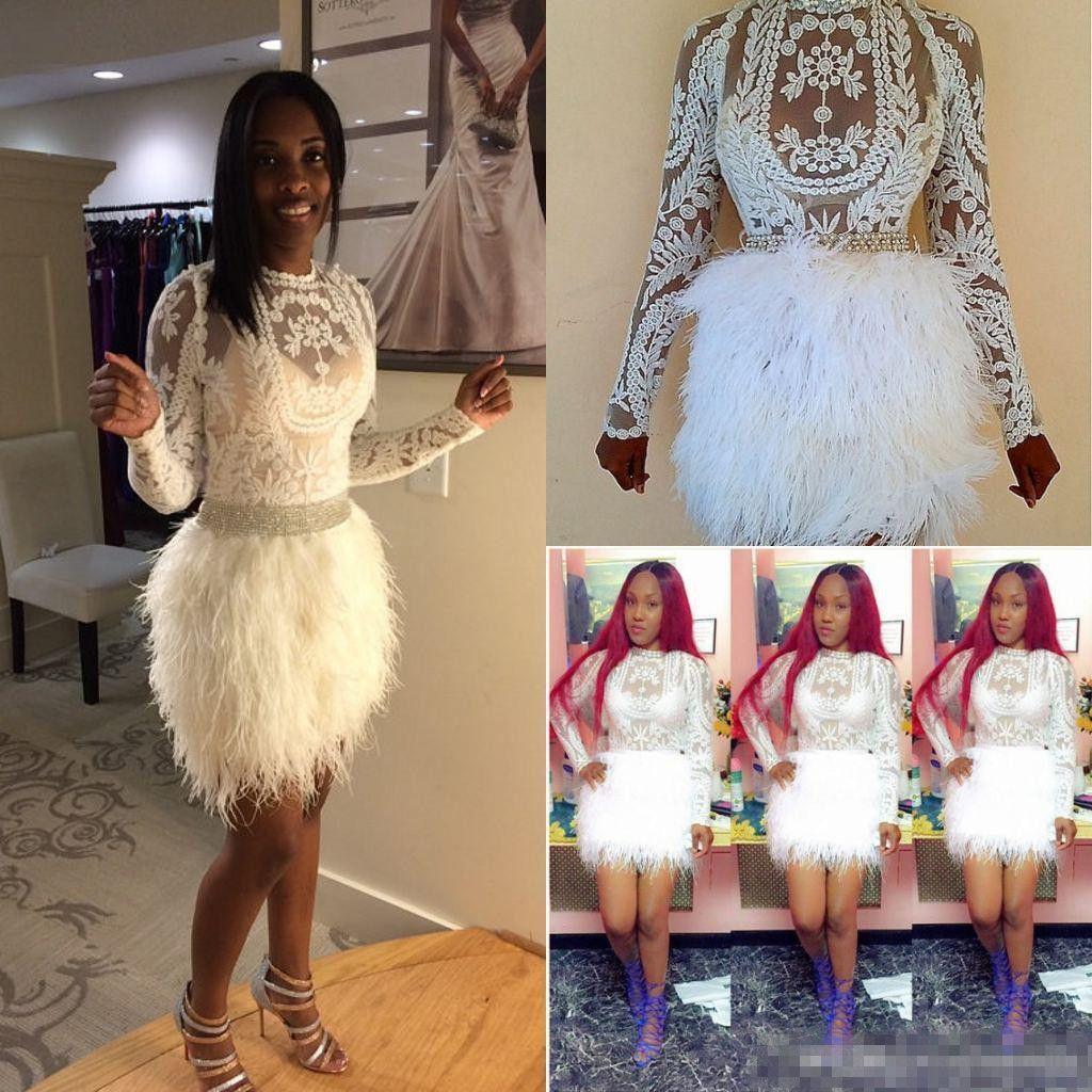 Design Fashion Christmas Feather Cocktail Dresses Black Celebrity ...