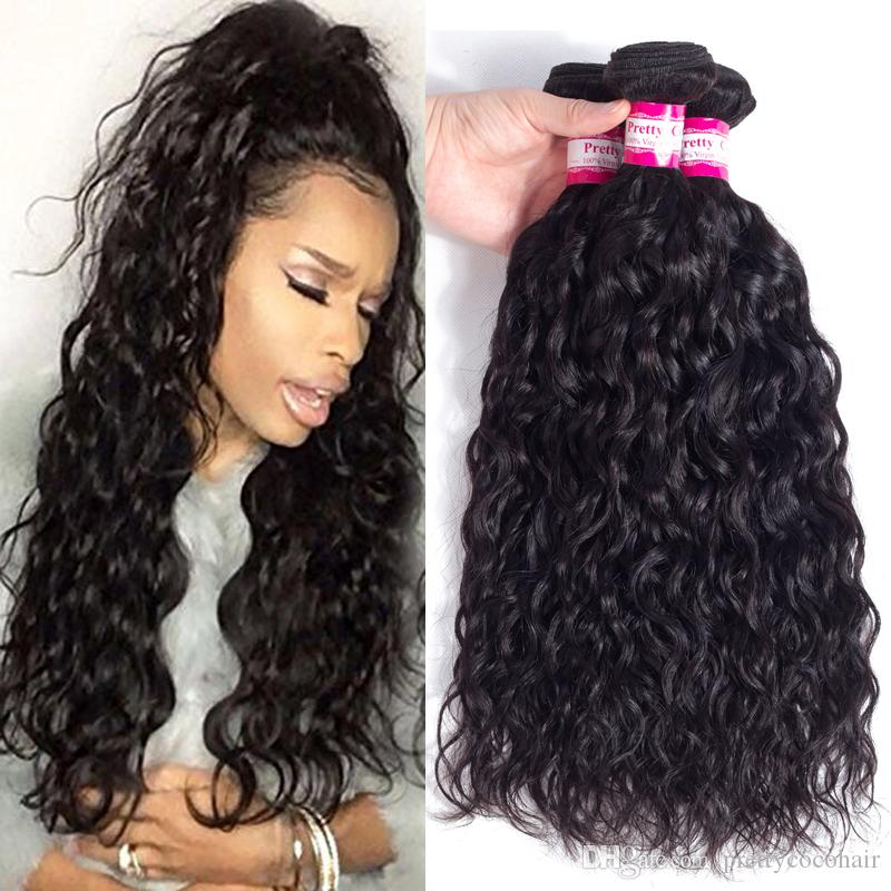 8a Wet And Wavy Weave Unprocessed Brazilian Malaysian Bundles Virgin