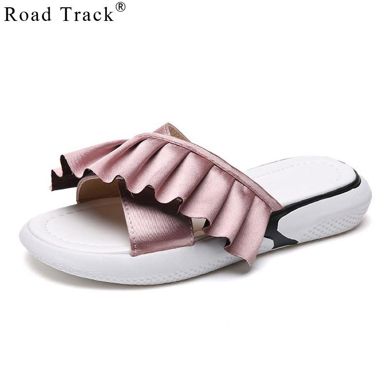 a955f86d2e9573 Wholesale Women Slippers Summer Women s Flip-flops Pleated Flat With ...
