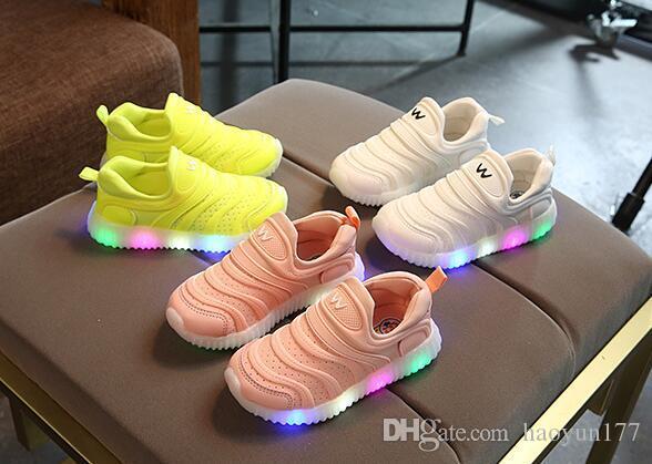 Acquista bella bella illuminazione a led bambino scarpe slip