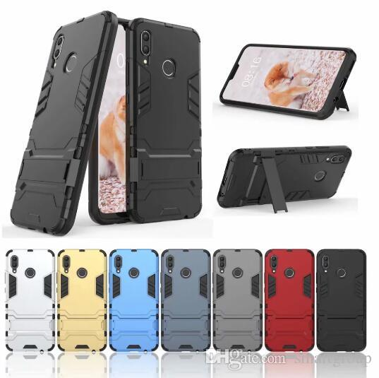 new products 7fa37 e91fa For Huawei Nova 3 Case Stand Rugged Combo Hybrid Armor Bracket Impact  Holster Protective Cover Case For Huawei Nova 3