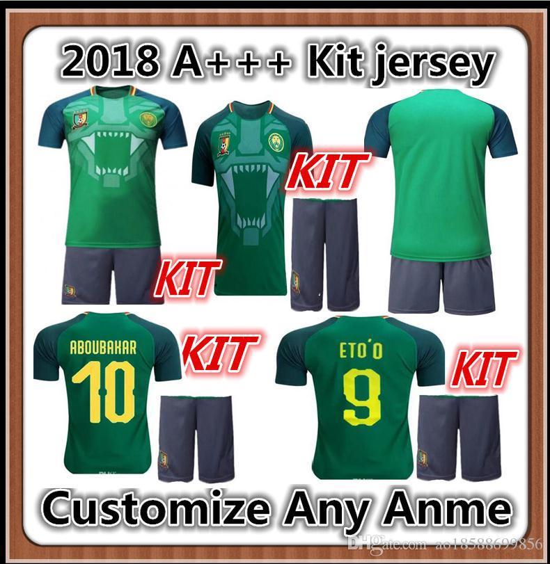 6f2a8c8edf0 2019 Kit Cameroon Jersey National Team 2018World Cup 10 Vincent Aboubakar  Football Shirt Uniform 8 Benjamin Moukandjo 9 ETO 13 Christian Bassogog  From ...