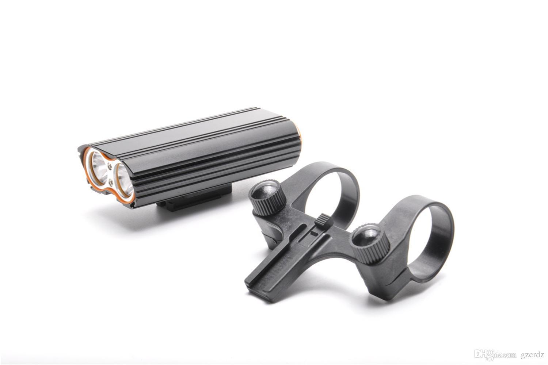 USB Şarj Edilebilir Bisiklet Işık 2000LM MTB Emniyet Feneri LED Bisiklet Ön Gidon Işıkları + 2 Montaj Tutucu Döngüsü Aksesuarları