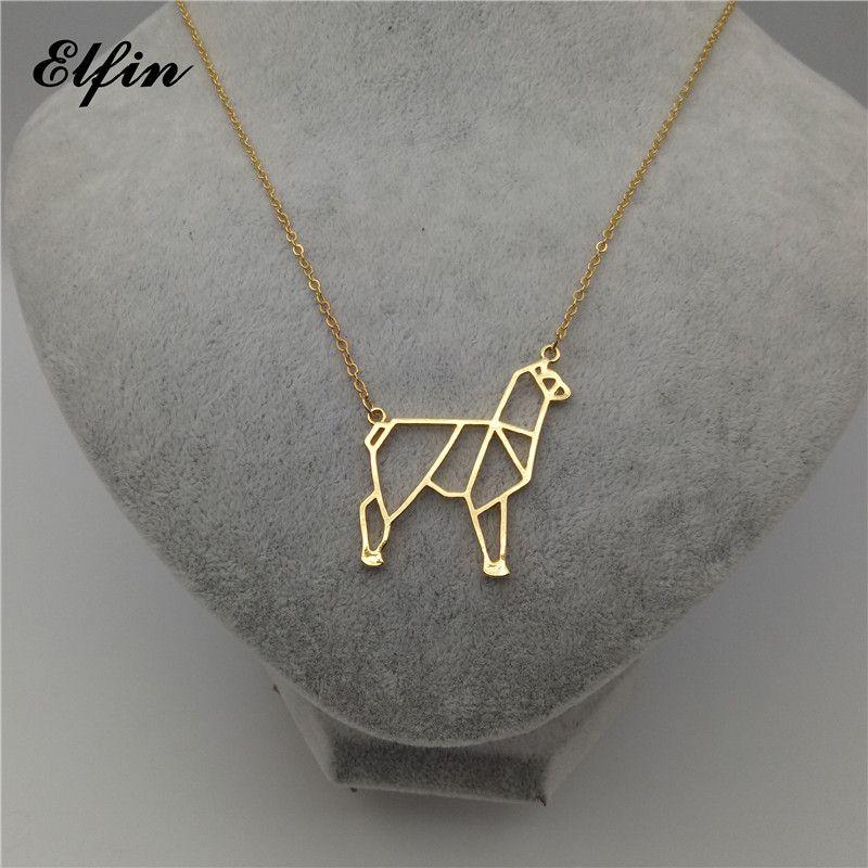 Elfin Origami Charme Géométrique Bijoux Collier Alpaga Et Femmes Mode Alpaca Femme Homme Cadeau WDb29eIYEH